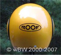 ROOF Boxer motorcycle helmet, rear view.