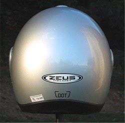 Zeus 508 helmet rear view