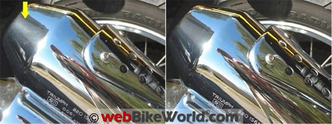 Glare Polish on Chrome Before and After