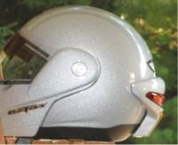Another view of the Signalfly on the helmet