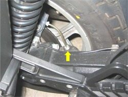Replacing rear brake line on BMW motorcycle