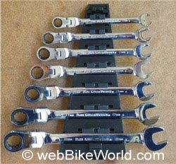 Tool holder for GearWrench Flex Head wrenches.
