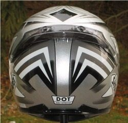 Shoei RF-1000 helmet, rear view