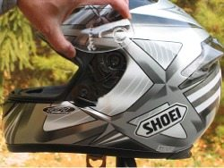 Shoei RF-1000 visor Quick Release Base Plate system - removing visor