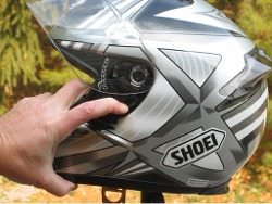 Shoei RF-1000 visor Quick Release Base Plate system