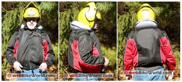 Moto-Air Airbag Jacket Deployed