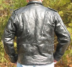 Classic motorcycle jacket - rear view