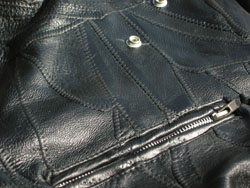 Texture of motorcycle jacket leather