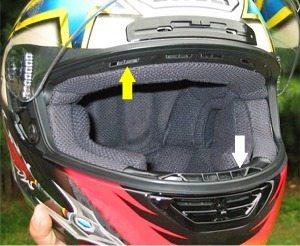 Front visor of Shoei X-Eleven helmet