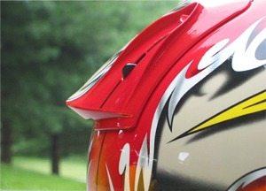 Aero edge spoiler photo Shoei X-Eleven helmet