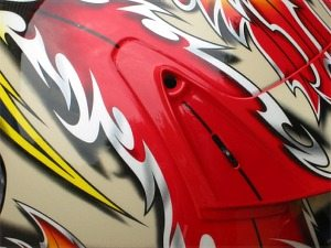 Rear spoiler of Shoei X-Eleven helmet