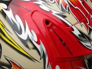 Rear spoiler of Shoei X-Eleven helmet