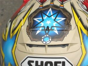 Air scoop photo on Shoei X-Eleven helmet