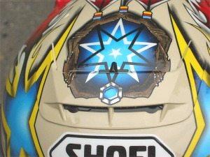 Air scoop photo on Shoei X-Eleven helmet