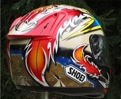 Rear photo of Shoei X-Eleven helmet