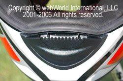 SCHUBERTH S1 motorcycle helmet, front chin vent.
