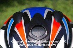 SCHUBERTH S1 motorcycle helmet, front sliding vent opening.