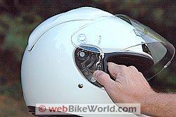 M2R helmet visor removal system