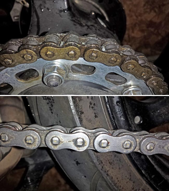 Chain Cleaning Before and After