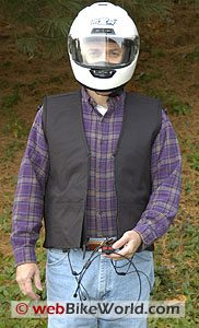 Motorcycle air bag vest