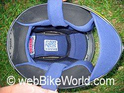 Shark RSR helmet liner