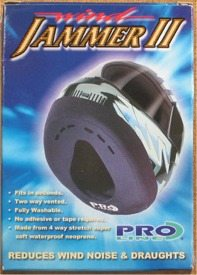 Motorcycle helmet wind blocker