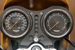 Motorcycle Clock on instrument cluster