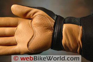 Deerskin insulated winter motorcycle riding gloves
