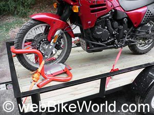 Motorcycle tie down trailer