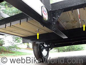 Mounting the Bike Grab on the Trailer