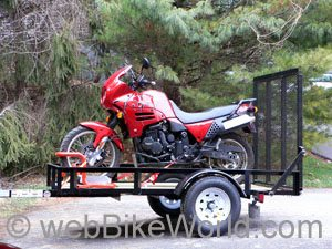 Trailering the motorcycle