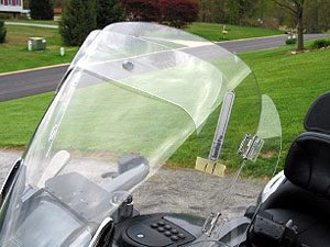 View of the Laminar LIP mounted on a BMW K1200LT