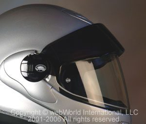 Nolan Helmets sun shade on X-1002