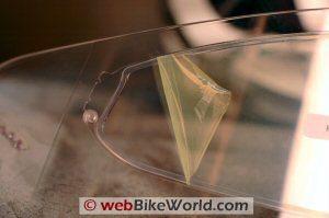 Pinlock anti-fog visor attachment point