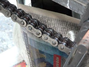 Chain after using Motorex Chain Clean 611