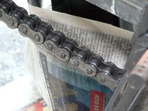 Chain prior to cleaning