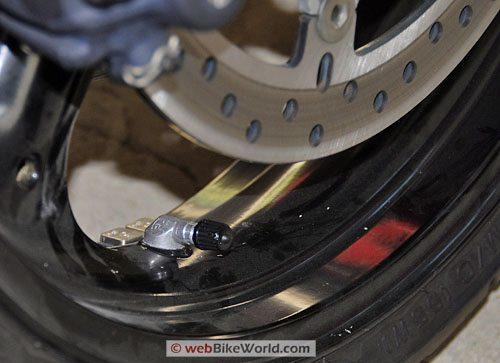 Ducati Multistrada 620 - Front Rim Tire Valve