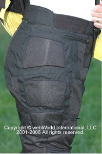 Women's motorcycle pants - FirstGear mesh pants, side view