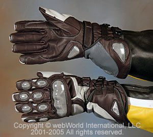 Marsee Motorcycle Race Gloves - top and bottom view