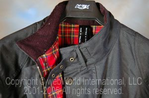 Belstaff jacket, collar