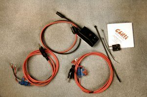 Heated vest wiring harness