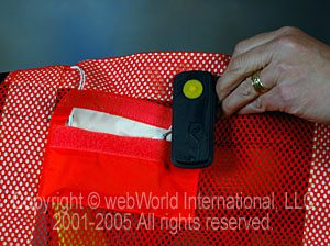 Battery for lighted safety vest