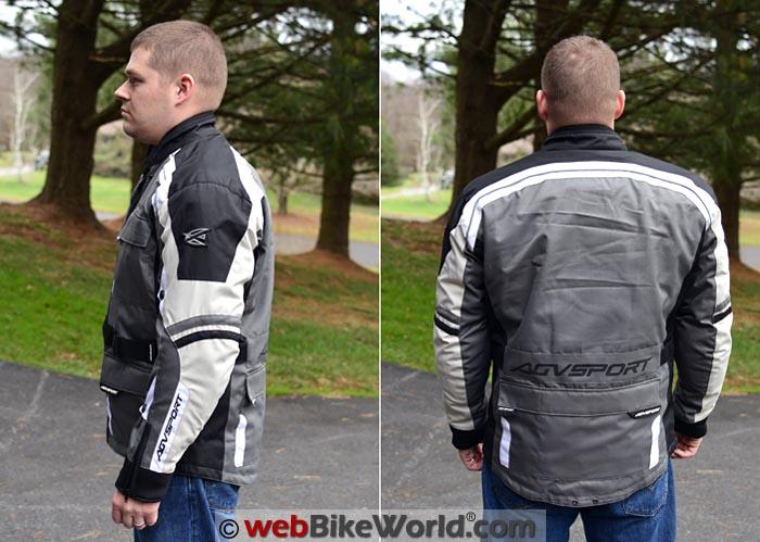 AGV Sport Torino Jacket Side Rear Views