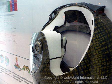 Shark RSR Helmet Cutaway
