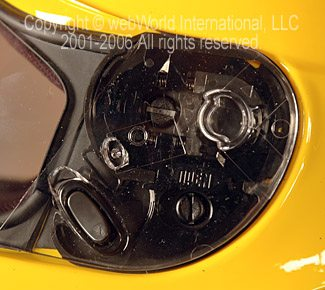 HJC CL-SP Visor Opening Mechanism