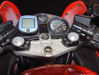 Garmin i3 Mounted on Tachometer Face