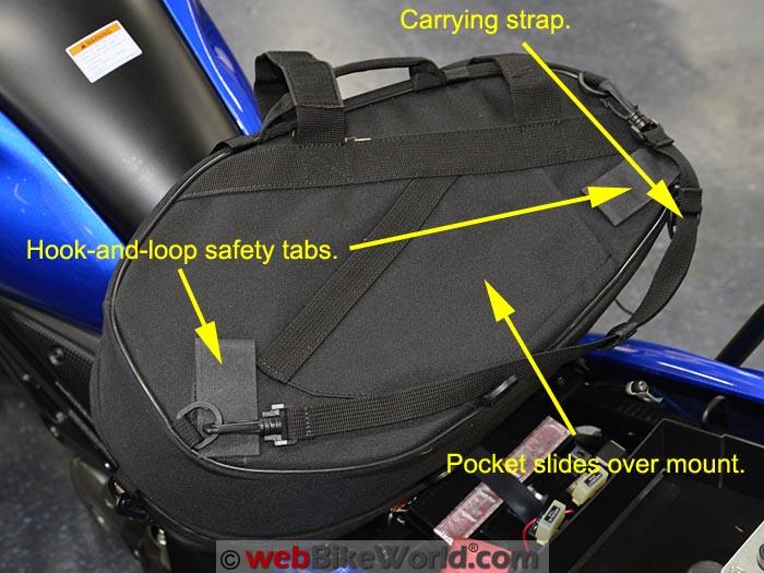 SHAD E48 Semi Hard Bags Rear Side