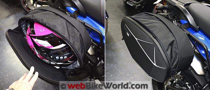 SHAD E48 Semi Rigid Bag Full Size Helmet Expansion
