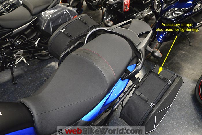 SHAD E48 Semi Rigid Bag Installed on V-Strom 650