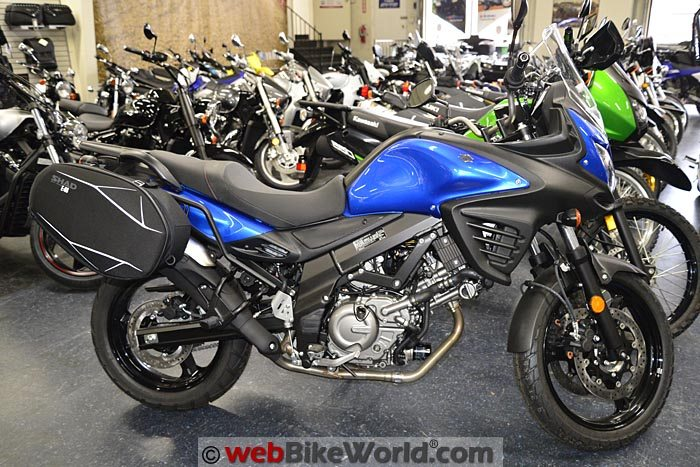 Suzuki V-Strom 650 With SHAD E48 Bags Mounted